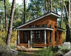 A Contemporary style enhances this one bedroom vacation getaway cottage.Transom windows bring in extra light and vaulted ceilings let the hot air rise.The efficient kitchen lies all along one wall, saving space.The covered front porch has room for chairs or a hammock. • The porch area is 4' X 16' • There is 15 piers and the hole of each (sonotube) are 10'' (inches) • The dimension of the piers slab is 24,, X 24'' x10'' (all in inches)