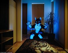 Light at home: In most cases, dressing up is inevitably linked to social activity. On the photos of this series, however, the costume owners...