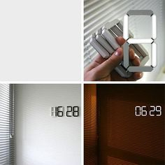 Stick up digital numbers, black display in the day, white at night. I want this!!!