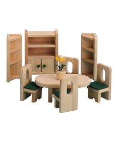 Another great find on #zulily! Let's Eat Dining Room Doll Furniture Set by Ryan's Room #zulilyfinds