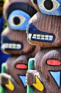Native American Totem Poles - Seattle, Washington