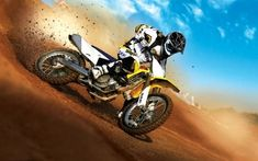 Motocross is a form of off-road motorcycle racing held on enclosed off-road circuits. The sport evolved from motorcycle trials competitions held in the United Kingdom. Bmx, Suzuki Motocross, Motocross Bikes, Yamaha Motorcycles, Sport Bikes, Motocross Baby, Sport Sport, Bike Wallpaper, Images Wallpaper