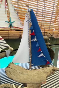 Boat Sailboat driftwood sailboat boat by hippiefishbeachart