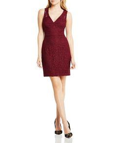 BCBGeneration Lace V-Neck Dress