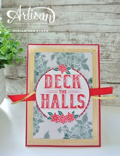 We're living the gold accents on this lovely card that was made with the Carols of Christmas stamp set. #stampinup #carolsofchristmas