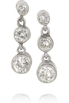 1920s platinum diamond earrings