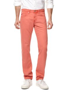 AG Adriano Goldschmied  Matchbox Slim Straight Twill in Nantucket Red