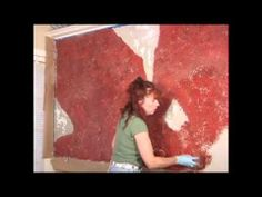 Tutorial   Diy how to paint a distressed red brick faux finish pattern