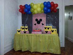 Mickey Mouse birthday decor.  Mickey birthday ideas. Second birthday.