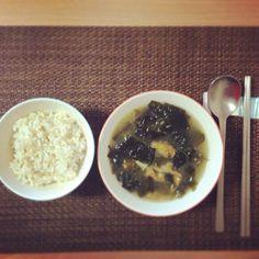 Korean traditional bday breakfast