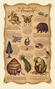 The Flora and Fauna of Discworld: Illustrations by Vladimir Stankovic