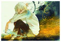 Tags: Fanart, Pixiv, Traditional Media, Mushishi, Ginko Mushishi, Watercolor, Fanart From Pixiv, Pixiv Id 5945632