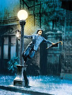 The most famous photos of cinema: 7ª) Singin' in the Rain (Cantando na Chuva) de 1952. Dirigido por Gene Kelly e Stanley Donen.