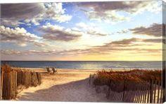 Sunset Beach Landscape Canvas Wall Art Print by Daniel Pollera