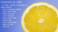 ¿Conoces los 10 beneficios más importante del limón? Descúbrelo y empieza a añadirlo a tu dieta porque está de temporada desde Mayo.