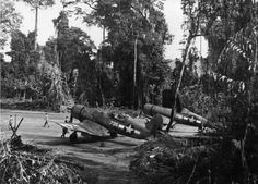 Corsairs of VMF 214 on Espritu Santo- the largest island in the group of islands that make up present day Vanuatu.