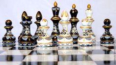 Купить Сувенир из дерева расписные шахматы Симфония - настольные игры, дорогой…