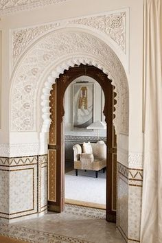 The entrance to a unique and luxurious Moroccan space. Royal Mansour, Marrakesh Morocco.