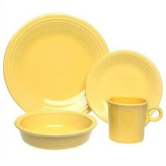 Fiesta 4-Piece Place Setting, Sunflower