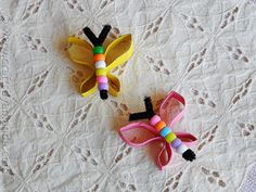 Butterfly Craft from cardboard tubes and beads -