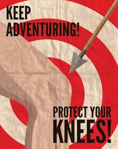 "Skyrim ""Keep Adventuring! Protect Your Knees!"" Propaganda Poster, via Etsy."