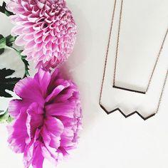 Dipped Row Ice Zig Zag Necklace - www.dippedrow.com   #dippedrow #necklace…