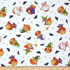 Moda Midnight Masquerade Tossed Owl Fun Moonlight Fabric By The Yard