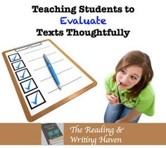 It's imperative that students learn how to evaluate texts and formulate their own opinions, judgments, and ideas about the world around them. Sometimes the idea of doing so is much less enticing than it should be, however. To students, it sounds like work
