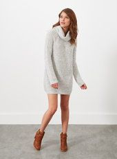 Grey Slouchy Knitted Dress