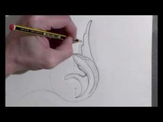 Tutorial filete porteño. La hoja de acanto - YouTube Art Sketches, Art Drawings, Ornament Drawing, Wall Painting Decor, Sign Writing, Graffiti, Leaf Drawing, Glazes For Pottery, Sketch Design