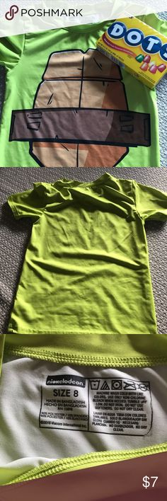 a6052d3d381d06 Nickelodeon Boys Top Turtle shell design on the front of this 90% polyester  and 10