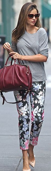 Miranda Kerr. Sunglasses - Prada Pants - Celine   Purse - Louis Vuitton   Prada Heritage Cat-Eye Sunglasses,
