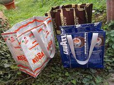 popalandia: borse con i sacchetti del caffè...