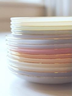 Pretty pastel plates.