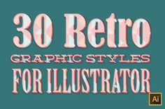 30 Retro Graphic Styles by The Spoon on @creativemarket