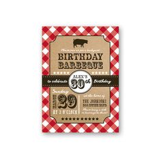 BBQ Birthday Invitation  30th Birthday  Barbeque  by iCustomInvite