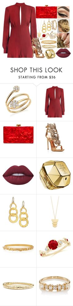 """#71"" by moon-crystal-wolff ❤ liked on Polyvore featuring Bloomingdale's, Zimmermann, Edie Parker, Giuseppe Zanotti, Lime Crime, Paco Rabanne, Gurhan, Gorjana, Hueb and David Yurman"