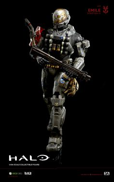 3A x HALO Emile A-239 Spartan-III hits www.bambalandstore.com on August 30th, 9:00AM Hong Kong time for 220USD. Figure stands 13.5 inches tall. #Halo #HaloReach #Spartan #Gaming #Collectibles #Bambalandstore Halo Reach Emile, Odst Halo, Personal Armor, Video Game Storage, Halo Cosplay, Halo Armor, Halo Spartan, Halo Series, Halo Game
