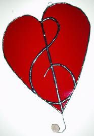 stain glass hearts