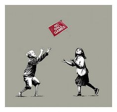 Banksy - No Ball Games - Walton Fine Arts #street art #streetart #graffiti