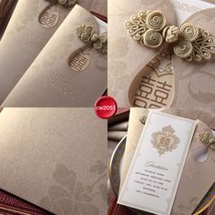 High quality Chinese style qipao wedding invitation card