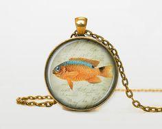 Colorfull poisson collier poisson pendentif par RainforestNecklaces
