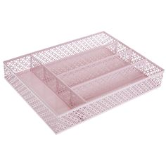 Pink Cut-Out Cutlery Organiser  - Utility Room - Home - TK Maxx