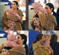 Kim Kardashian & Baby North.