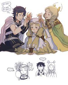 Fe:Awakening - The Royal Siblings how Lissa'a hair got like that