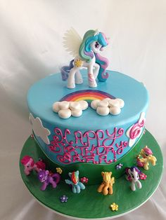 My Little Pony Cake, kinda want this for my birthday.im turning 29 lol My Little Pony Cake, My Little Pony Birthday Party, Happy Birthday, Cupcakes, Cupcake Cakes, Mlp Cake, Little Poney, Cake Creations, Party Cakes