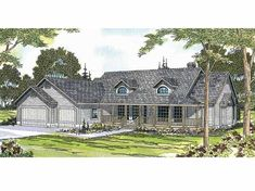 Farmhouse House Plan with 2299 Square Feet and 4 Bedrooms(s) from Dream Home Source | House Plan Code DHSW01086
