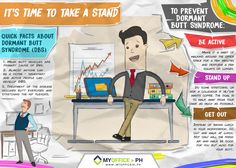 Been sitting for almost a day? It's time to take your butt off your chair!  #SeatLeasing #VisualNotetaking #business #Office  http://myofficein.ph/its-time-to-take-a-stand/
