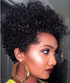Short Curly  Tapered
