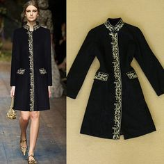 2014-Boutique-Women-Golden-Embroidery-Stand-Collar-Woolen-Coat-Wool-Outerwear